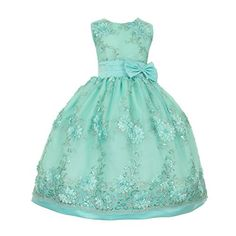 Little Girls Aqua Green Floral Embroidered Sparkly Easter Flower Girl Dress 2 Shanil http://www.amazon.com/dp/B00UD7P1CC/ref=cm_sw_r_pi_dp_Yq9Gwb0JVRYG4