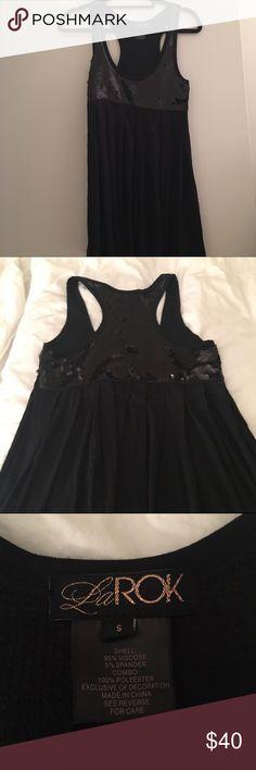 La Rok Black Sequin tunic/mini dress Worn as a mini dress or tunic La Rok Tops Tunics