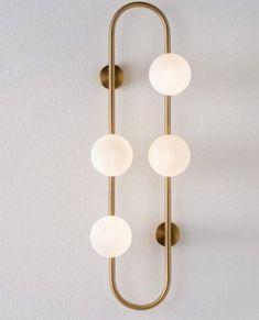 Zuhause - Lampe Lampe - Comparto mis ideas creativas y originales. Chic Wallpaper, Modern Art Deco, Best Interior Design, Hand Blown Glass, Lighting Design, Lighting Ideas, Wall Sconces, Light Fixtures, Wall Lights