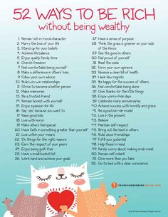 52 Ways to Be Rich Without Being Wealthy I www.FrankSonnenbergOnline.com