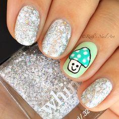 Mushroom nails #nailart #ruthsnailart