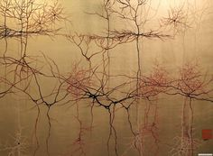 """Greg Dunn: Neurons Painted As Japanese Scrolls - """"Fundamentally art and science are ruled by the same principal"""""""