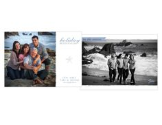 Simple & Beachy Holiday Card www.figgestudio.com
