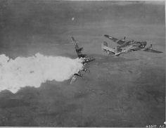 """Un impacto directo de la """"Flak"""". No sobrevivió ningún miembro de la tripulación"""