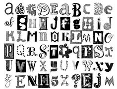 more alphabets by Don Moyer (He has a book with his alphabets on blurb. Click through for more info.)