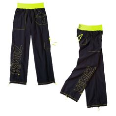 Show off your Zumba® pride with these Logo Cargo Pants. With the Zumba® stitching on the right pant leg, logo stitching details on the front left pocket, and the embroidered logo on the boldly coloured waistband, no one will ever doubt your full-blown Zumba love! There are also plenty of pockets to hold your keys and loose change.      Men, order two sizes larger than usual.
