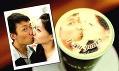 ¿Cansado de que tu café sea sólo agua oscura aburrida? En Taiwan puedes imprimir tu fotografía sobre la espuma de tu café para hacerlo único