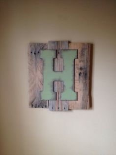 Custom Pallet Letter Art Wall Hanging by ReformedByLeviathan, $35.00 #boys #bedroom