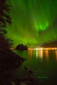 cool Sitka, Alaska Northern Lights...