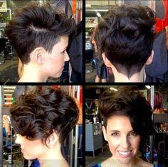 Love this asymmetrical cut! Wish I had this much hair!  Love the neckline.