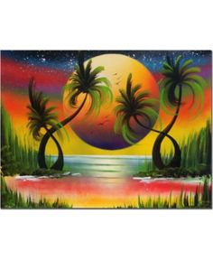 "Trademark Fine Art ""Lagoon at Sunset"" Canvas Art by Conrad, Image 1 of 1 Artist Canvas, Canvas Art, Canvas Prints, Painting Prints, Watercolor Paintings, Watercolor Print, Afrique Art, Sunset Canvas, Pastel Art"