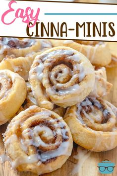These Easy Cinna-Minis are a copycat of those Burger King favorites! The crescent roll dough is topped with cinnamon brown sugar then drizzled with icing!