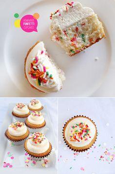 Homemade Funfetti Cupcakes!  Better than the box??