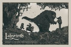 Image of 'LABYRINTH' Limited Edition Screen Print MONDO Main Edition Artist Proof