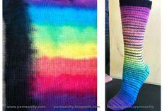 Rainbow Gradient Mini Stripe hand-dyed sock blank