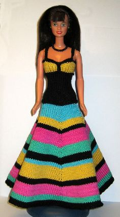 Knitted Barbie clothes (more than 1000 patterns) http://www.stickatillbarbie.se