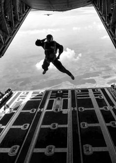 Salute and jump.