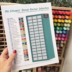 Use the Stampin' Blends Marker Collection chart to organize your Stampin' Blends Markers. Always know which markers you have and which you still need! Sewing Room Storage, Craft Room Storage, Craft Organization, Storage Ideas, Craft Rooms, Storage Organization, Marker Storage, Stamp Storage, Scrapbook Supplies