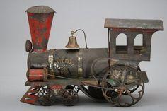 """Ives """"Jupiter"""" Clockwork Engine c1880. Toy still works"""