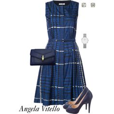A fashion look from September 2017 featuring Oscar de la Renta dresses, Christian Louboutin pumps and Bulgari clutches. Browse and shop related looks.
