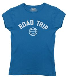 Women's Road Trip T-Shirt - Juniors Fit Retro Athletic Travel