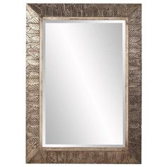 "Howard Elliott Elrond Silver Leaf Mirror 33"" x 45"" x 1.1/2"""