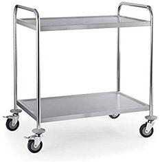 Hartleys 3 nivel ajustable Rolling Carro de alambre móvil carro cesta de alimentos Catering