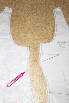 essayage et retouche d'un patron de robe - try and modify a dress pattern