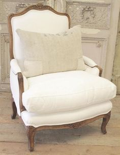 Vintage French Soul ~ Antique French Country Bergere Chair by FullBloomCottage on Etsy Decor, Furniture, French Chairs, Interior, French Country Decorating, Home Furniture, French Furniture, Chair, Home Decor
