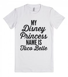 Disney Princess Name | Fitted T-shirt | Front