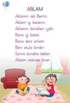 323 En Iyi 1 Sinif Okuma Görüntüsü 2019 Learn Turkish Learning