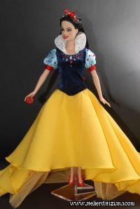 Ooak Dolls, Barbie Dolls, Disney Fantasy, Barbie Collector, Barbie Friends, Beautiful Dolls, Snow White, Tulle, Disney Princess