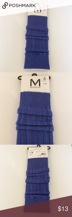 "Mondor Cobalt Blue Leg Warmers. 14"" leg warmers are a fun way to accessorize! Warm and soft 83% acrylic , 18% nylon , made in Canada. Mondor Accessories Hosiery & Socks"