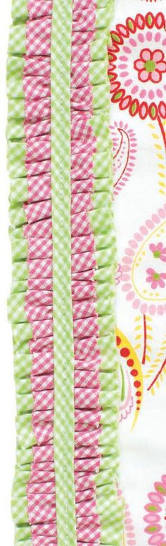 VINTAGE Gingham Ribbon Daisy Cotton trim CRAFT LOVE Classic gift sewing lace