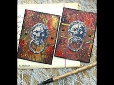 """Step by step mixed media artist trading card set """"Secret Chamber"""" This video tutorial contains scrapbook advertisement!"""