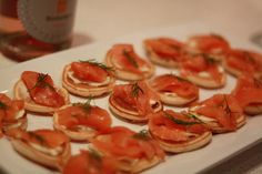 We'll admit it... we just love salmon canapes!  Visit our website at www.patepate.co.uk to see our blog posts on quick and easy #Christmas canapes. Salmon Canapes, Easy Canapes, Christmas Canapes, Good Food, Yummy Food, Nye Party, Party Food And Drinks, Family Reunions, Red Fish