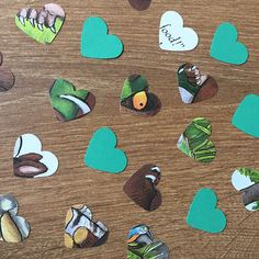 This pack contains approx 100 pieces of confetti which has been lovingly hand punched from the Childrens book The Gruffalo. Each heart measures approx 1 inch and in each pack you will receive 100 pieces of confetti. This confetti would be great for scattering on tables as decorations or sprinkling on the floor. You can also use them for paper craft and scrapbooking Please note I have added my own coloured card to give the confetti some colour. If you have a colour theme or would like a…