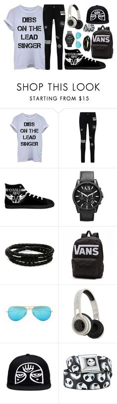 """abc of me tag / 2,3,16"" by hesitantalienfashion ❤ liked on Polyvore featuring Armani Exchange, Porsche Design, Vans, Ray-Ban, SMS Audio, mens, men, men's wear, mens wear and male"