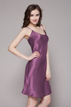 1c35429340fc This 100-percent pure and real natural silk night dresses are made with  adjustable spaghetti straps.  84  nightgowns  silk  lilysilk