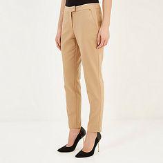 Camel slim cigarette pants - cigarette trousers - trousers - women
