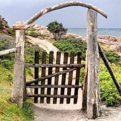 This gate is at the start of a scenic walking trail around the cliffs of The Hammer, Bornholm Island, Denmark. Source: Go VisitDenmark
