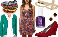 Outfit inspired by Notre Dame Cathedrals' South Rose Window: Fashion inspired by the colorful stained glass