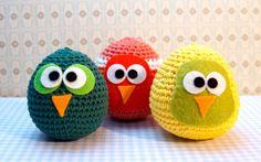 Softies Xtremo: Patrón de Pajarillos Amigurumi Owl Crochet Pattern Free, Crochet Owls, Crochet Animal Patterns, Owl Patterns, Stuffed Animal Patterns, Crochet Animals, Crochet Baby, Free Crochet, Knitting Patterns