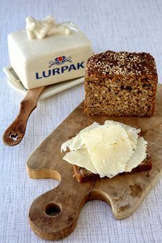 Clemmensen and Brok - Ostemad - rye bread with Lurpak butter and cheese.