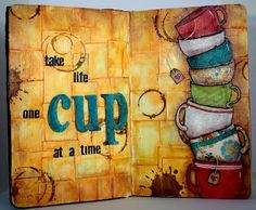 Marion Smith Designs: Mad Tea Party | Life Sparkles Layout by Angee Carter