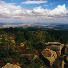 """Germany, Saxony-Anhalt - Harz Mountains: Brocken (1141.1 meters), the highest mountain in northern Germany, which is said to be witches on Walpurgis Night come and dance. The mountain speaks to the imagination. There are rock formations with names like """"The Witch Altar"""" and """"The Devil's Pulpit 'rising from the forest floor and the Brocken, in the mist where the summit is often shrouded in a ghostly appearance."""