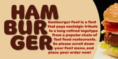 Hamburger Font BF (10% discount, from 27,89€)   https://fontsdiscounts.com/hamburger-font-bf-10-discount-from-2789e