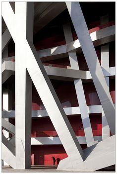Beijing National Stadium. Herzog & de Meuron, Ai Weiwei, 2008. Beijing, China.  photo by clement guillaume