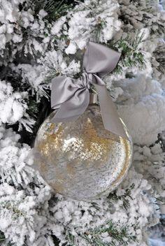 Mercury Glass Ornament 4.75in