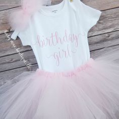 First Birthday Outfit; Birthday Girl Outfit with Headband; Baby Girl Outfit; Babies First Birthday; First Birthday Tutu Dress by BabyMaeBoutique on Etsy https://www.etsy.com/listing/463849017/first-birthday-outfit-birthday-girl